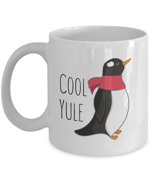Penguin Mug - Cool Yule Penguin - 11 oz Gift Mug
