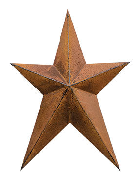 "Rust & Black Finish 12"" Whimsy Star"