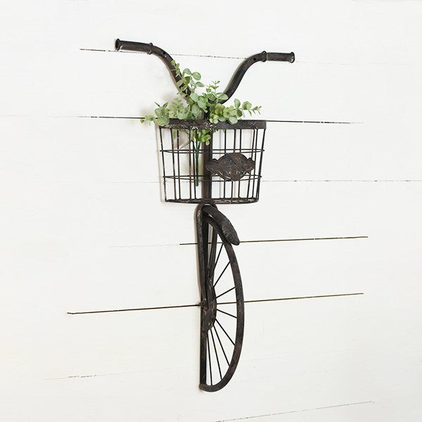 "Black Bike 31"" H Bicycle Wall Bin"