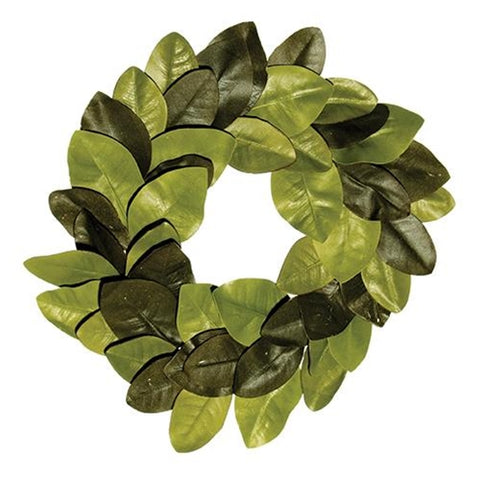 "Elegant Magnolia Leaves 22"" Wreath"