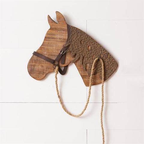 Wooden Horse Head Wall Hanging