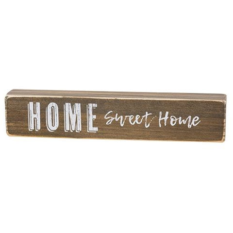 Home Sweet Home Shelf Sitter Block Sign