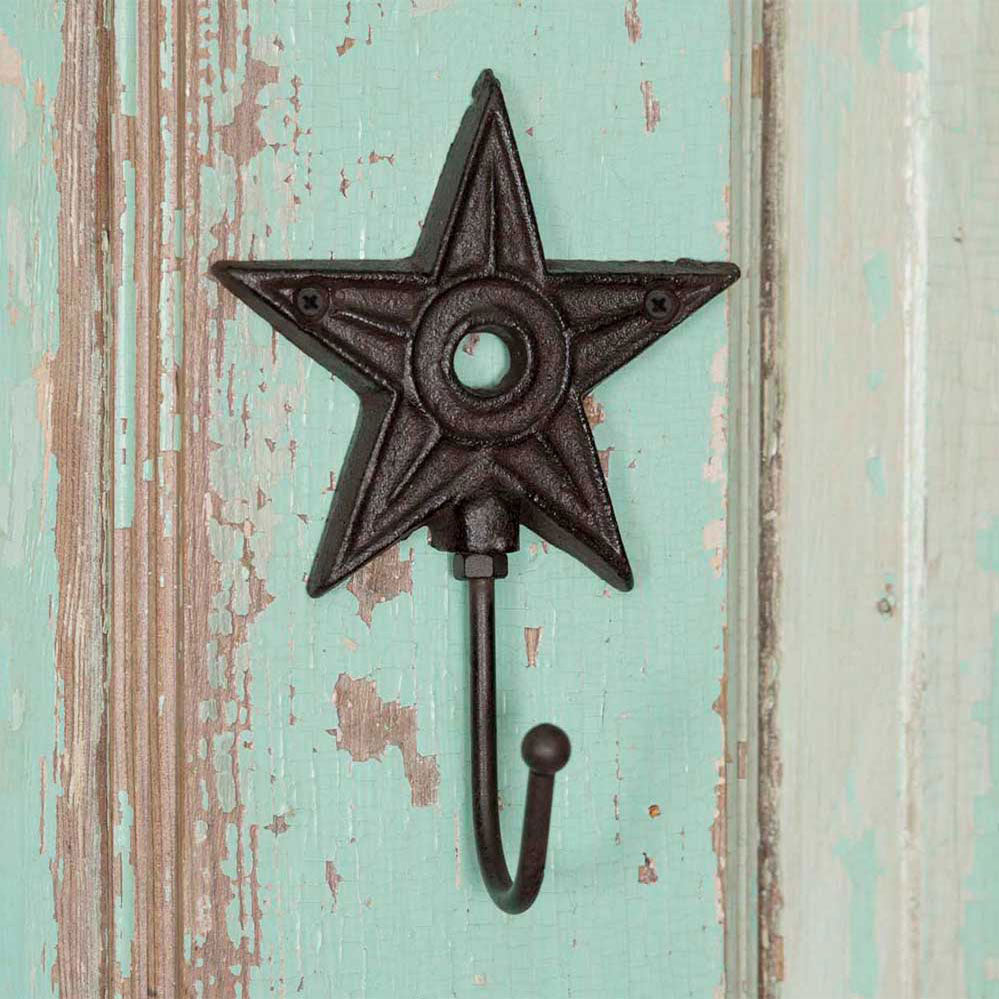 Architectural Star Cast Iron Hook