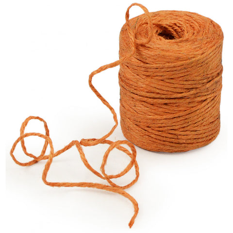 Natural Jute Rope / Twine: Orange - 75 Yards