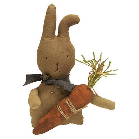 "Peter Bunny with Carrot 13"" Fabric Figure"