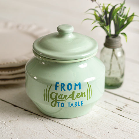 From Garden to Table Sugar Jar