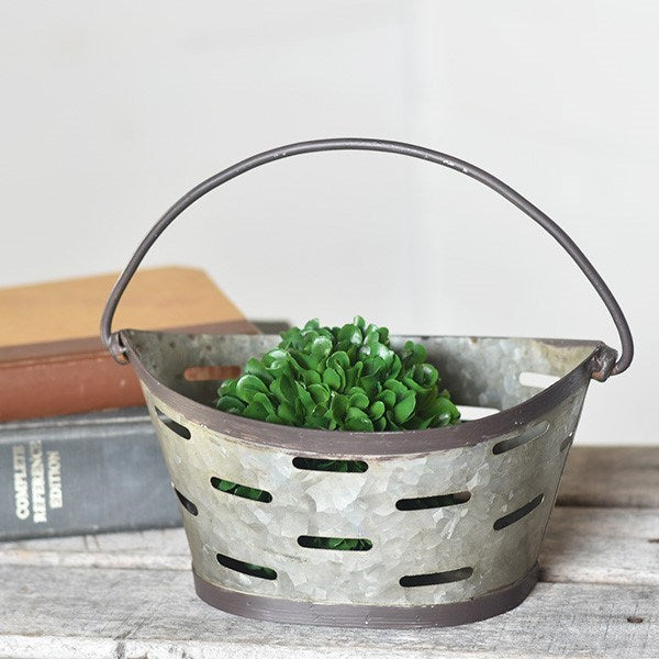 Lil' Oval Tin Vented Basket