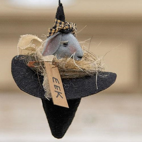 Eek Mouse Witch Hat Ornament