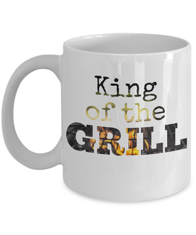 Funny Mug for Men - King of the Grill - 11 oz Gift Mug