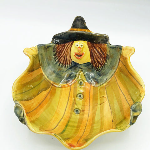 Autumn Witch Spooky Serving Bowl Made in Italy