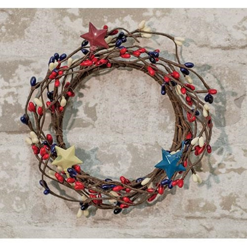 "Americana Pip and Stars Small 6"" Wreath Ring"