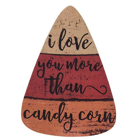 "I Love You More Than Candy Corn 10"" Sign"