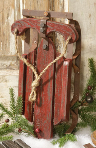 "Rustic Red Rusted 12.5"" Sled"