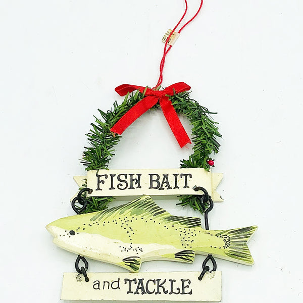 Fish Bait and Tackle Fishing Ornament