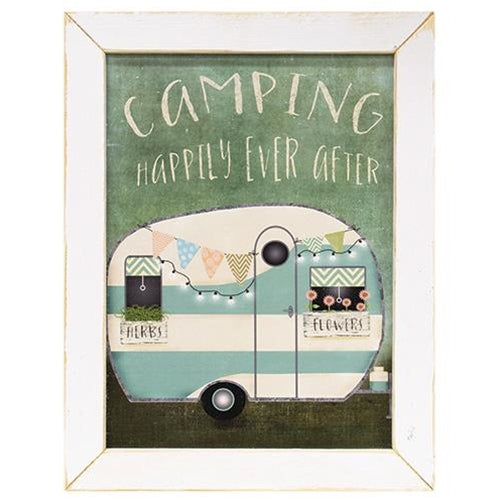 Retro Camping Happily Ever After Framed Print