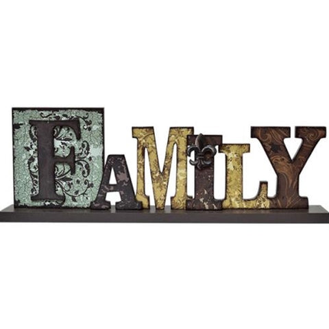 Family Letters Tabletop Sign