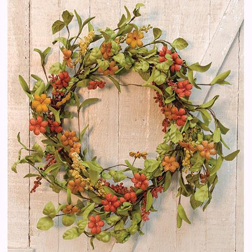 "Rustic Burlap Flower 20"" Wreath"