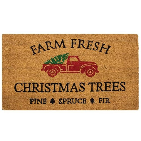Farm Fresh Christmas Trees Door Mat