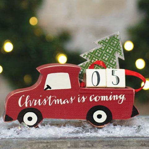 Christmas Countdown Red Truck Figure
