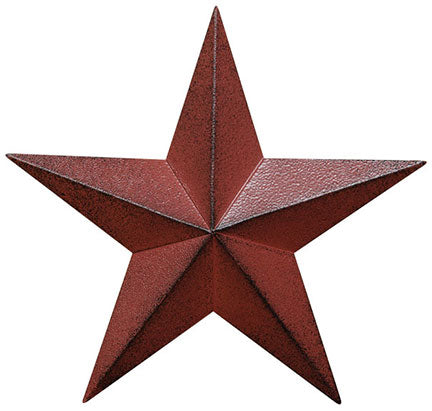 "Burgundy Metal 18"" Barn Star"