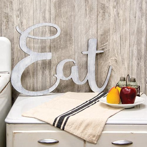 """Eat"" Wooden Cutout Wall Hanging"