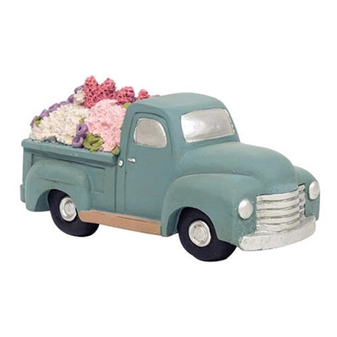 Flowers 4 Sale Lil' Blue Resin Truck