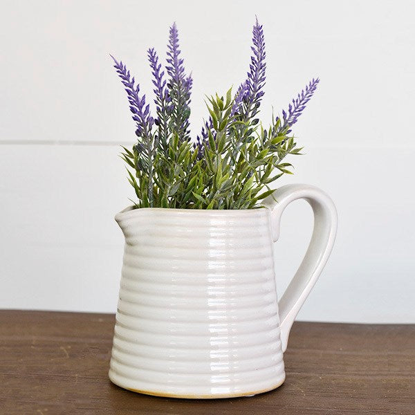 "Ridged Avalon Mini Pitcher 5"" H"