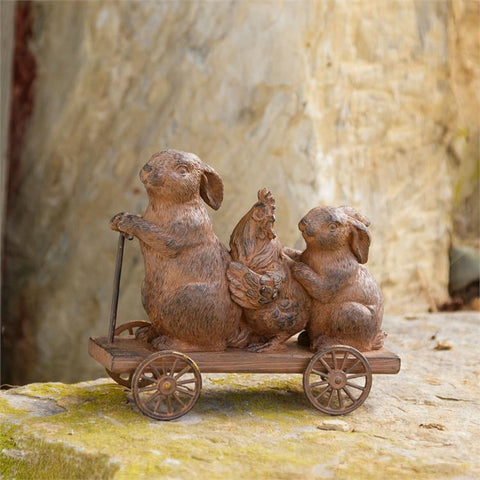 Bunnies and Friend On the Go Cart Figure
