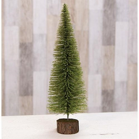 "Mossy Bottle Brush 14"" Pine Tree"