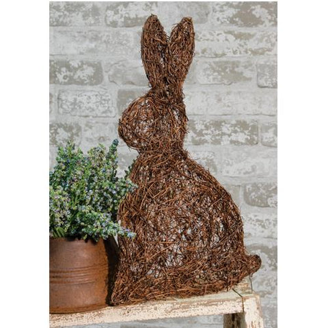 "Rustic Angel Vine Thin Bunny Rabbit 12"" H"