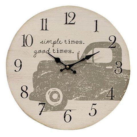 Simple Times Good Times Pickup Truck Clock