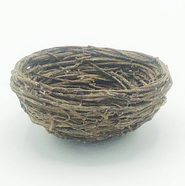 Mini Straw Bird Nest with Bonus bird eggs