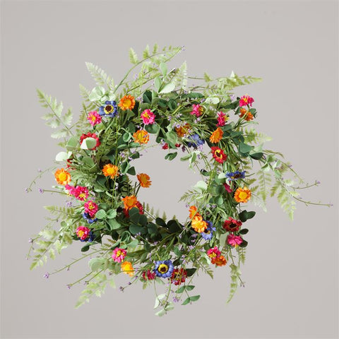 "Summer Days Daisies and Greens 20"" Wreath"