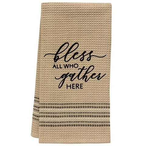 Bless All Who Gather Here Dish Towel