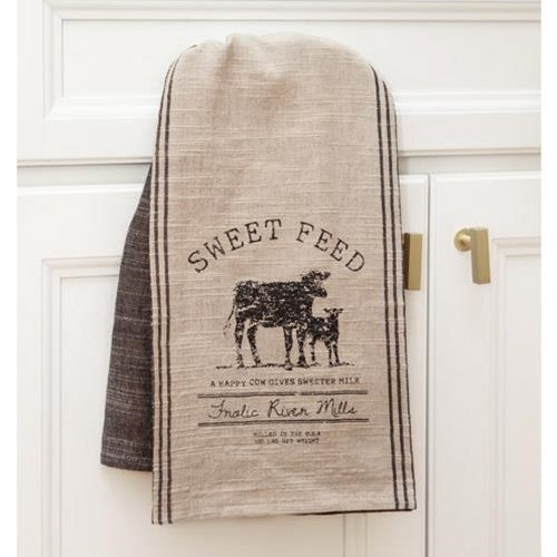 Sweet Feed Cow and Calf Dish Towel
