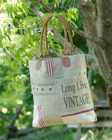 Long Live Vintage Canvas Bag