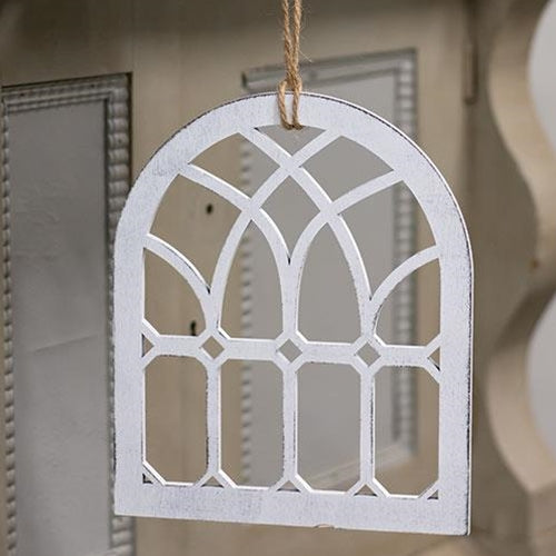 "Hanging Emerald Cutout Cathedral Window 9"" H"