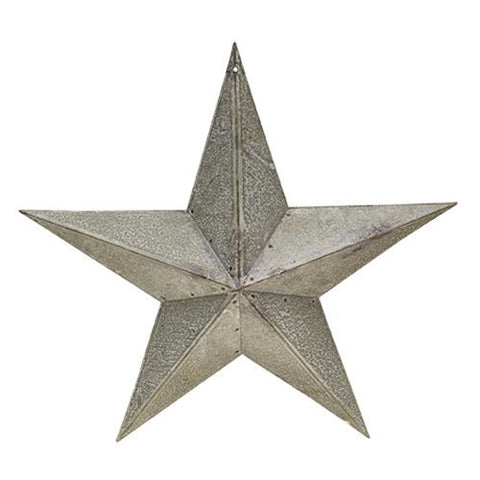 "Galvanized Metal 12"" Barn Star"