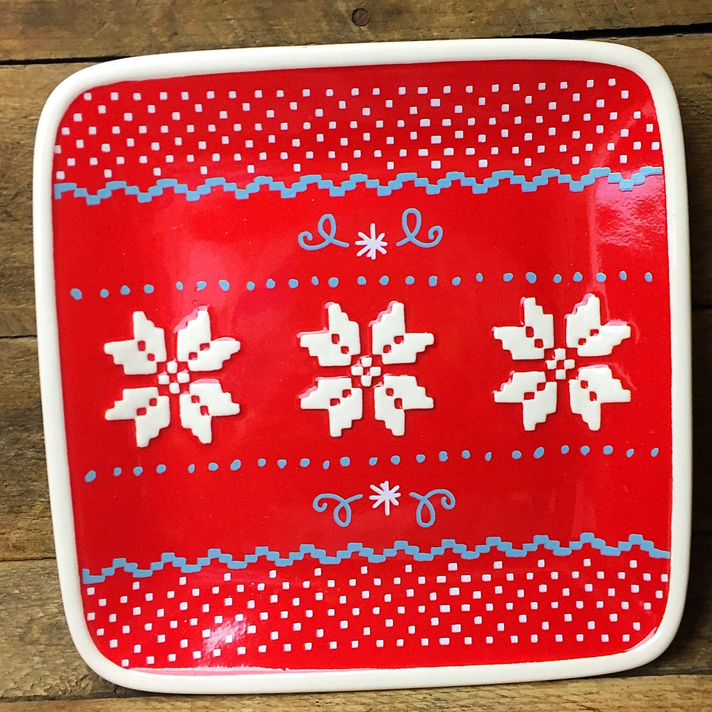 Hallmark Square Christmas Sweater Plate