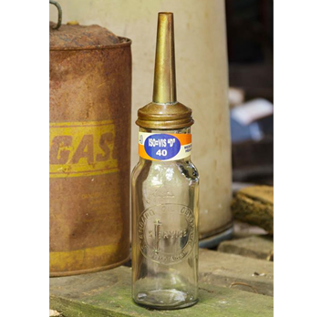 Reproduction Industrial Funnel Style Bottle