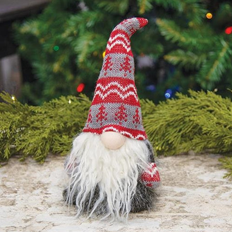 "Plush Furry Santa 10"" Gnome"