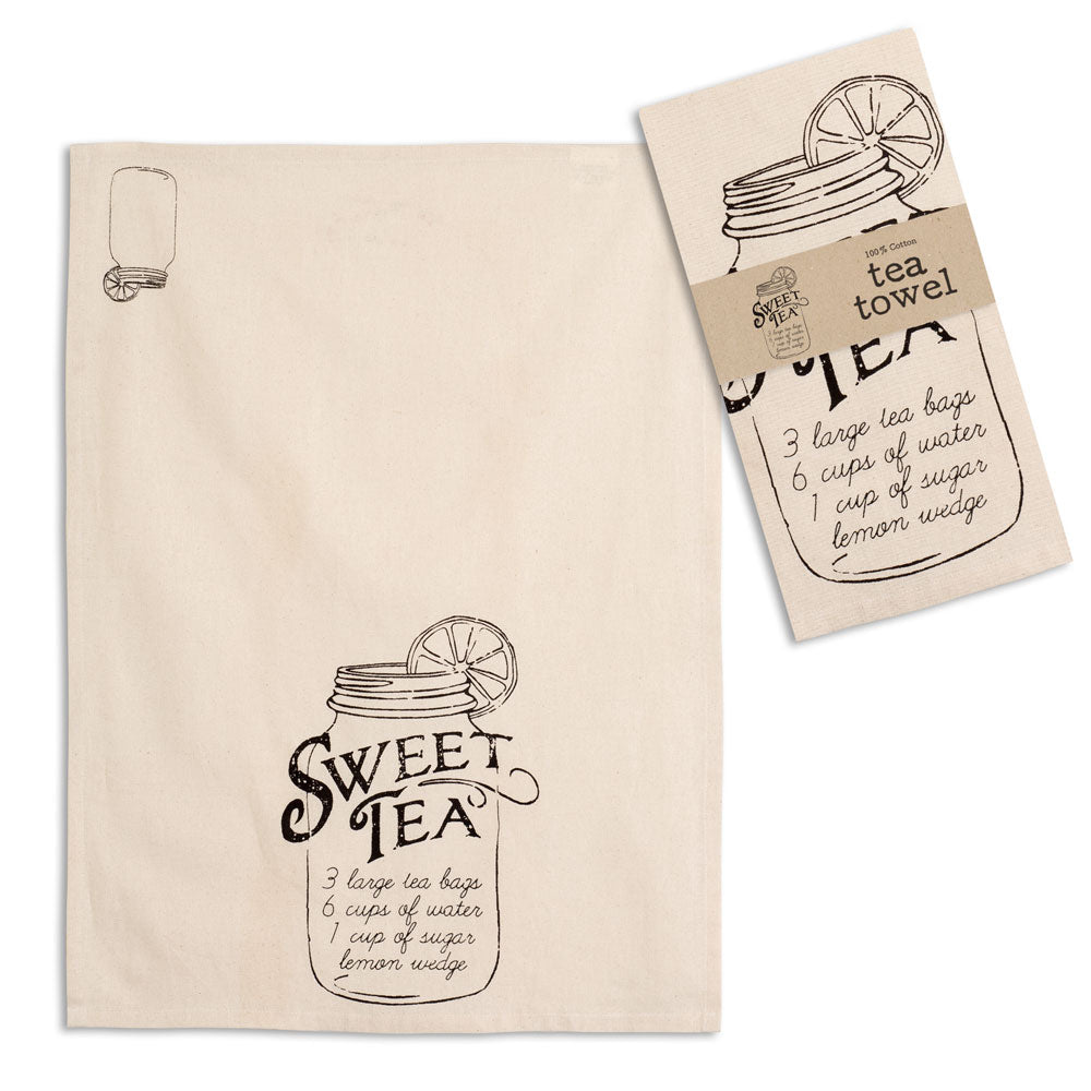 Sweet Tea Recipe Tea Towel