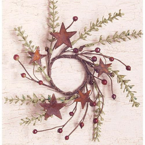 "Rosehip & Herb Rusty Star 8"" Ring"