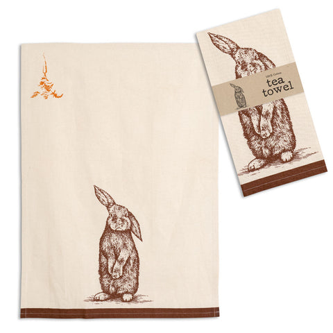 Bunny Sitting Tea Towel 100% Cotton