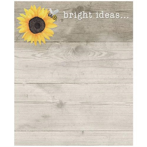 Bright Ideas Sunflower & Bee Mini Notepad