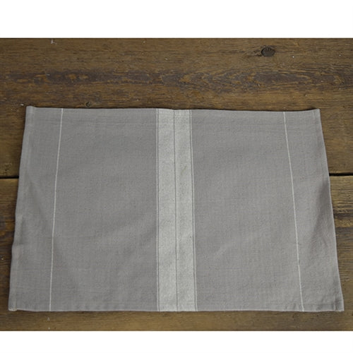 Fabric Placemat - Taupe Striped