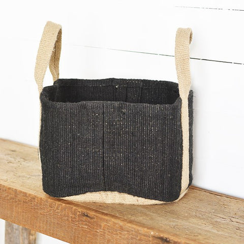 Charcoal Colored Floor Jute Bag