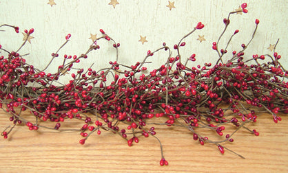 Red & Burgundy Pip Garland, 4 ft long