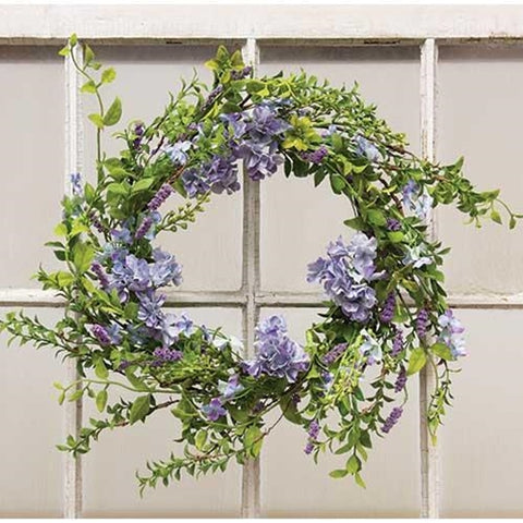 Spring Lilac and Greens Wreath 24""