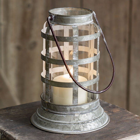 Liberty Harbor Rustic Metal Lantern
